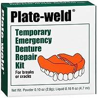 Plate Weld プレート溶接一時的な緊急義歯修理キット、3パック