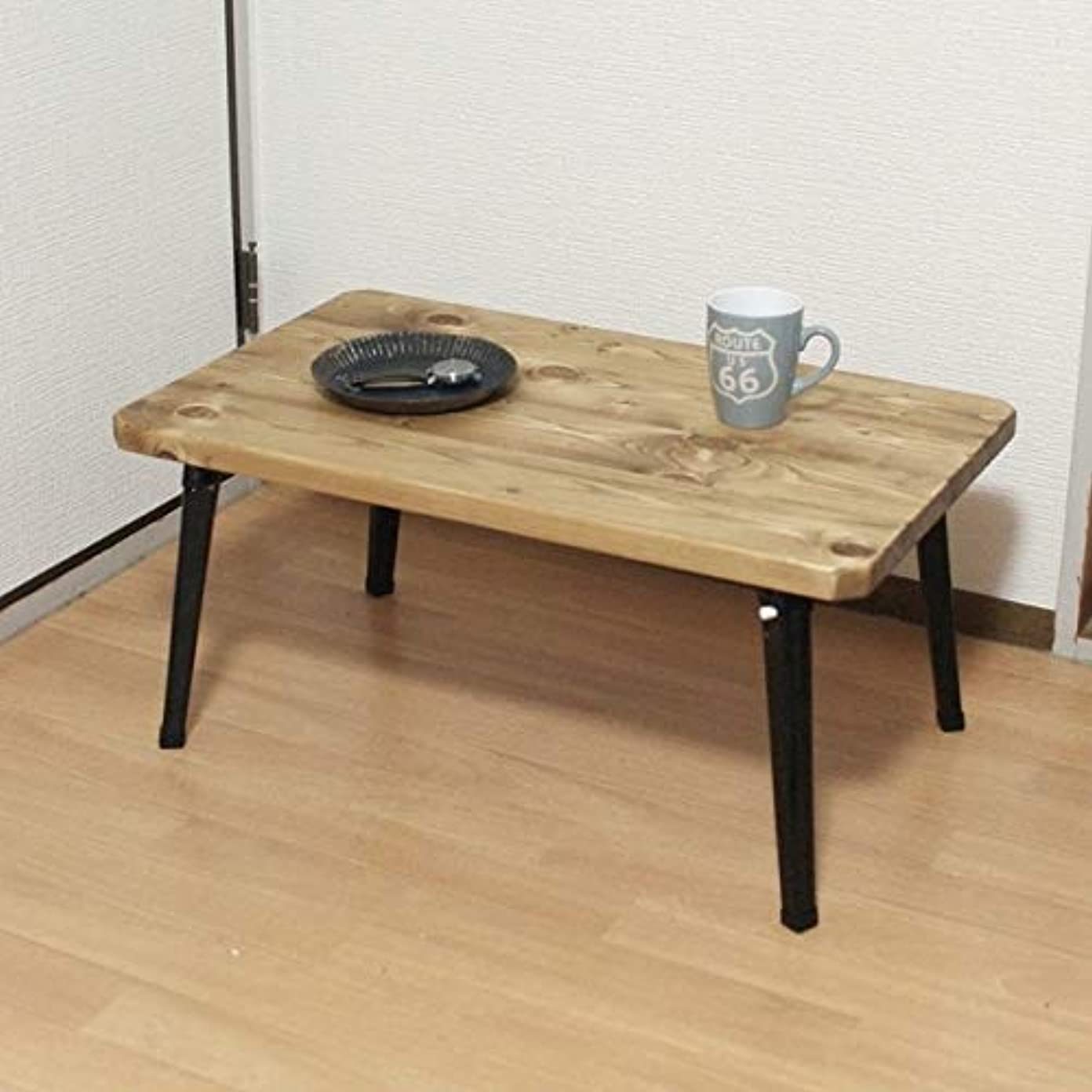 定期的に誤範囲70×42 折りたたみ ナチュラルローテーブル ミドルサイズ ハンドメイド