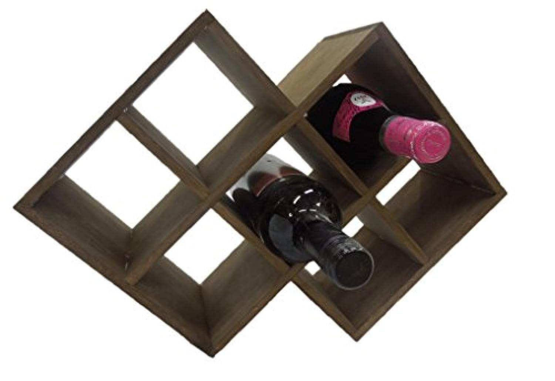 【ノーブランド品】 ワインラック 木製 7本 収納 横置き オシャレ 大容量 棚 日本製 アンティーク 塗装 職人 手作り 日本製