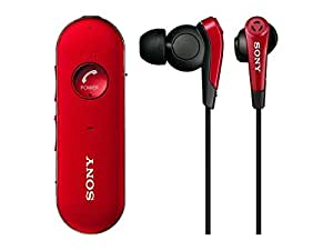 ソニー SONY ワイヤレスノイズキャンセリングイヤホン MDR-EX31BN : カナル型 Bluetooth対応 レッド MDR-EX31BN R