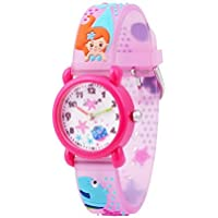 Wolfteeth Analog Girls Toddlers School Day Wrist Watch with Second Hand Cute Small Face Round Dial Water Resistant Little Girls Watch 3066