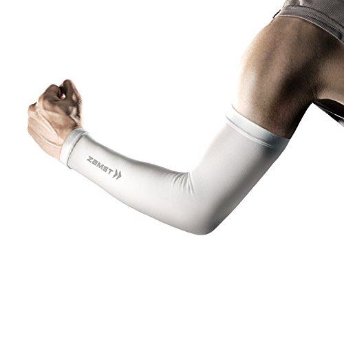 ザムスト(ZAMST) 着圧アームカバー アームスリーブ (両腕入り) ホワイト Lサイズ 385813