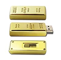 D-CLICK TM High Quality 4GB/8GB/16GB/32GB/64GB/Cool USB High speed Flash Memory Stick Pen Drive Disk (32GB, GOLD BAR) [並行輸入品]