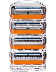 剃刀手動5層剃刀手動剃刀オレンジの箱4
