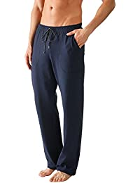 Mey 24660-668 Network Blue Solid Colour Pyjama Pant