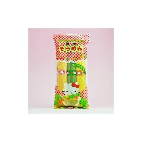 ハローキティ そうめん 緑黄色野菜入り 300g ×5袋 セット (Hello Kitty 緑黄色野菜 素麺) (カネス製麺)