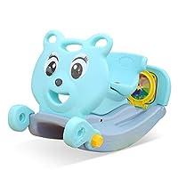 赤ちゃんプラスチックロッキングホース玩具、子供屋外ロッカー動物ライド子供ロッキングおもちゃ子供1-3歳スライダーバスケットボール取り外し可能
