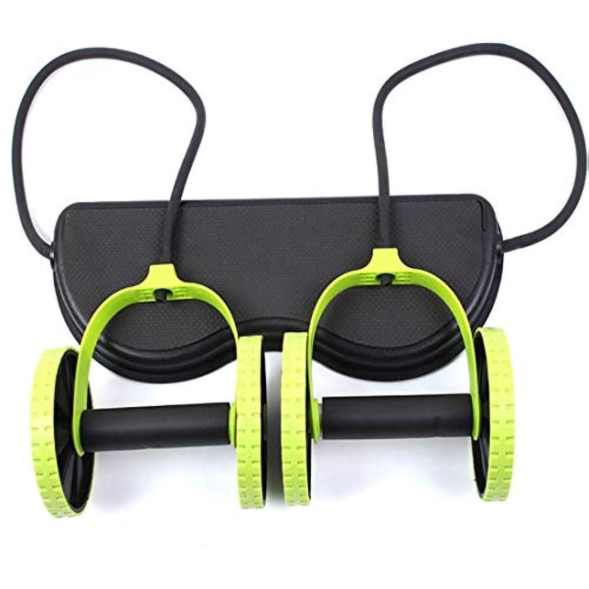 堀びん静めるJS-04多機能腹輪腹筋ホイール腹部ホイールテンションロープ筋肉トレーニングマシン (Panda) (色:多色)