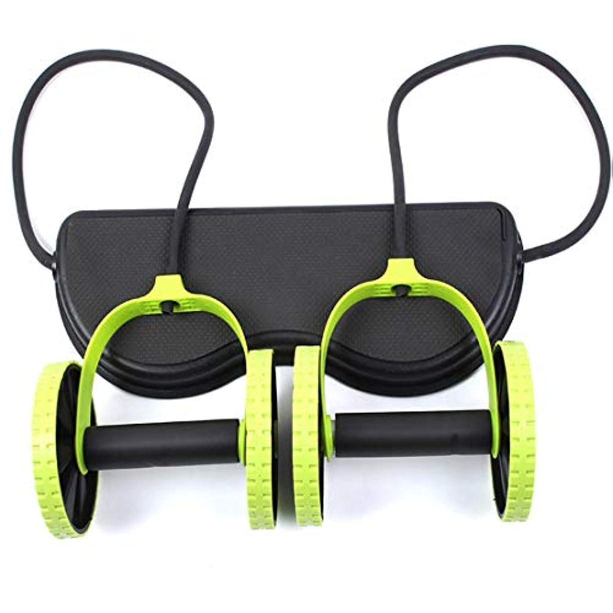 JS-04多機能腹輪腹筋ホイール腹部ホイールテンションロープ筋肉トレーニングマシン (Panda) (色:多色)