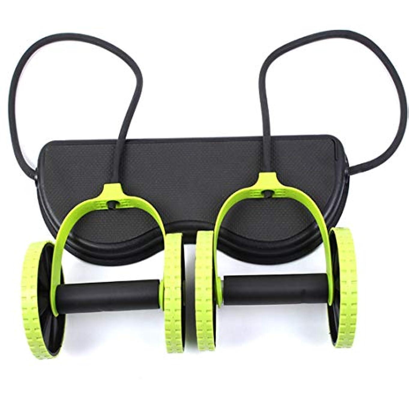 バイバイ派生するしがみつくJS-04多機能腹輪腹筋ホイール腹部ホイールテンションロープ筋肉トレーニングマシン (Panda) (色:多色)