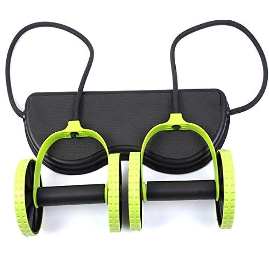 再生可能債務者シャットJS-04多機能腹輪腹筋ホイール腹部ホイールテンションロープ筋肉トレーニングマシン (Panda) (色:多色)