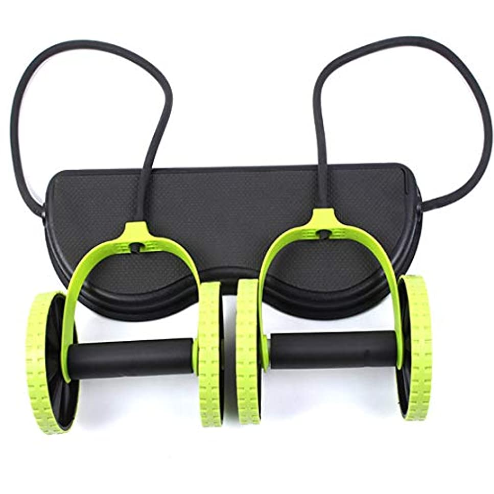 チャペルメイエラレルムJS-04多機能腹輪腹筋ホイール腹部ホイールテンションロープ筋肉トレーニングマシン (Panda) (色:多色)