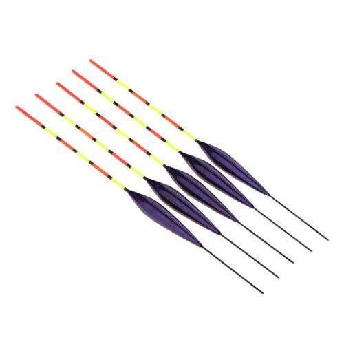 5本 釣りフロート 釣りブイ スリップボバー 釣りアクセサリー 高感度 軽量 全3色