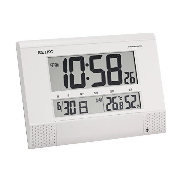 セイコー クロック 掛け時計 置き時計 兼用 電...の商品画像