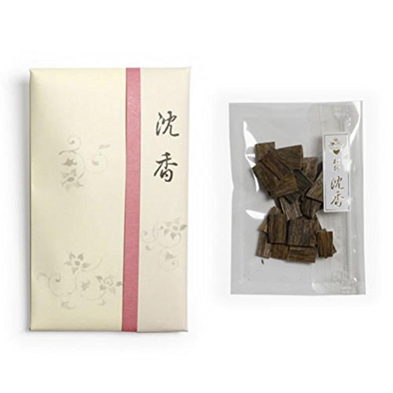 ひいきにする茎衝動香木 松印 沈香 割(わり) 5g詰 松栄堂