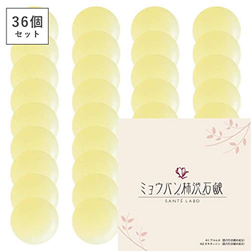 準拠拒絶描く【36個セット】ミョウバン柿渋石鹸(ナチュラルクリアソープ) (36個)