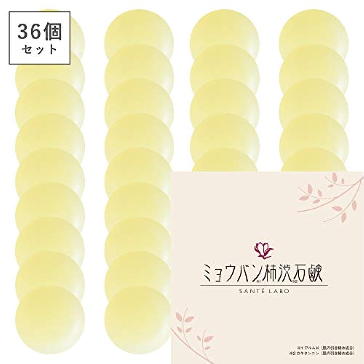 コンパクト実験をする再開【36個セット】ミョウバン柿渋石鹸(ナチュラルクリアソープ) (36個)