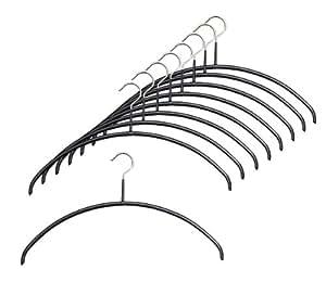マワ すべり落ちない MAWAハンガー カットソー アンサンブル用 レディースライン Mサイズ 9本組 ブラック 3123