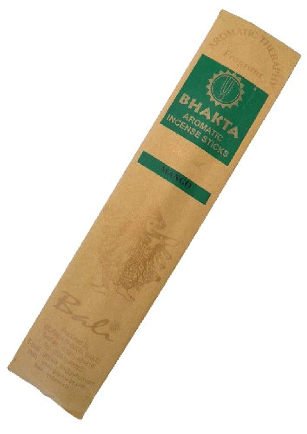 つかいますホイッスル投資するお香 BHAKTA ナチュラル スティック 香(マンゴー)ロングタイプ インセンス[アロマセラピー 癒し リラックス 雰囲気作り]インドネシア?バリ島のお香