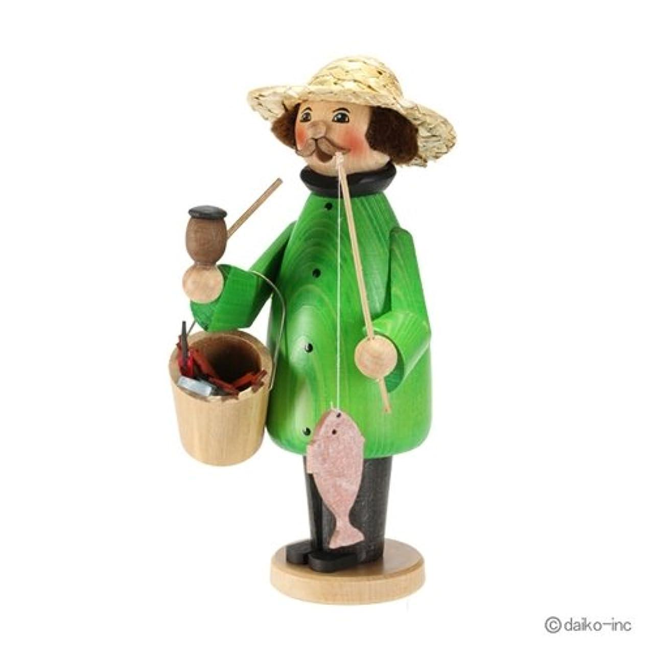 去る好奇心盛ファウルクーネルト kuhnert ミニパイプ人形香炉 釣り人