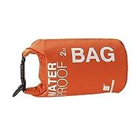 【ノーブランド品】防水ドライバッグポーチ 防水バッグ キャンプ ボート カヤック 釣り ラフティング カヌーに 2L(オレンジ)