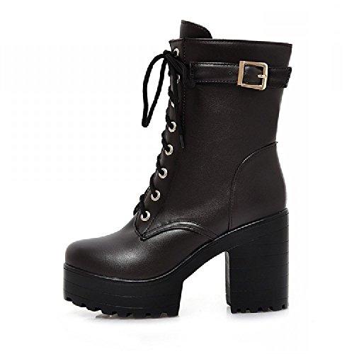 (ケージョイ) K-JOY 厚底+11cm ショート ブーツ F207-1 ブラック 39(24.5cm)