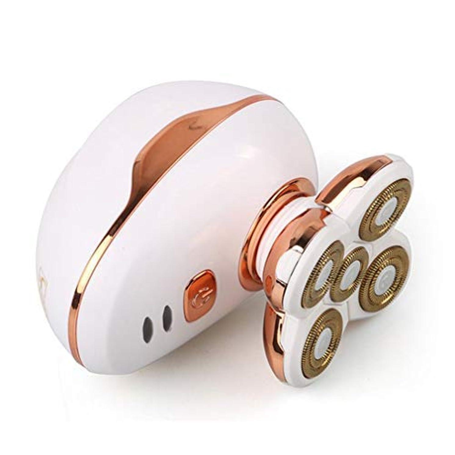 真剣に意図可動式耐久性のある一般的な5頭防水シェービング刃カミソリ電気シェーバー用USB充電式ウェットドライポータブル