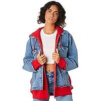 Levi's Women's Levi`S Ex Bf Hybrid Hooded Trucker Jacket Long Sleeve Cotton