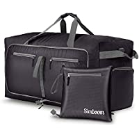Simboom 100L Foldable Travel Duffle Bag, Water Resistant Lightweight Duffle Bag Luggage Duffel Travel Bag with Shoes Compartment for Men Women