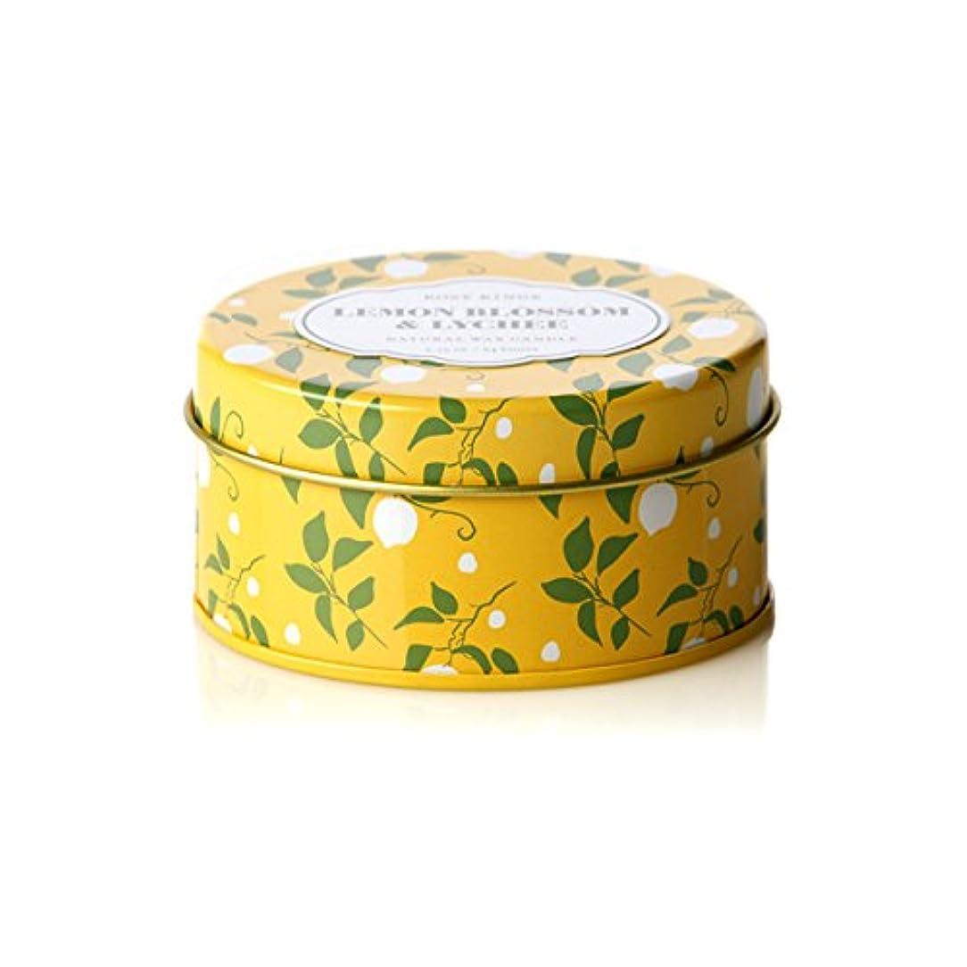 座る縁ラダロージーリングス トラベルティンキャンドル レモンブロッサム&ライチ ROSY RINGS Lemon Blossom & Lychee Travel Tin