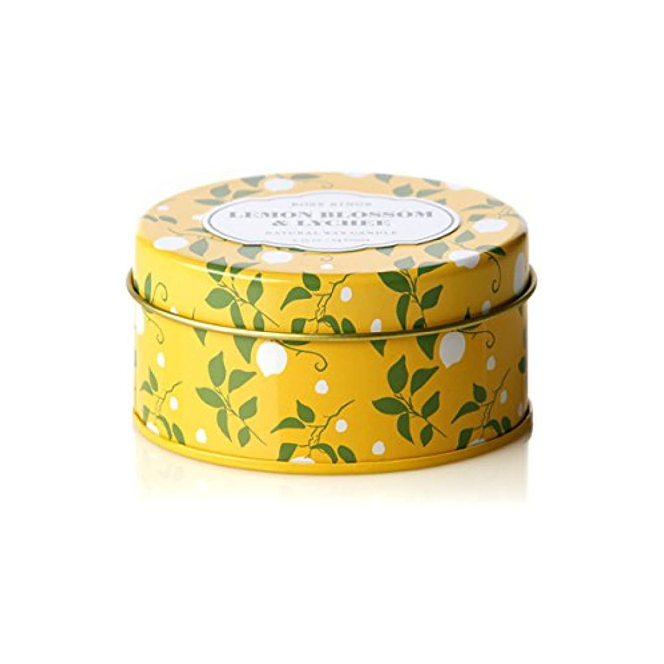 トランクライブラリ変形するインドロージーリングス トラベルティンキャンドル レモンブロッサム&ライチ ROSY RINGS Lemon Blossom & Lychee Travel Tin