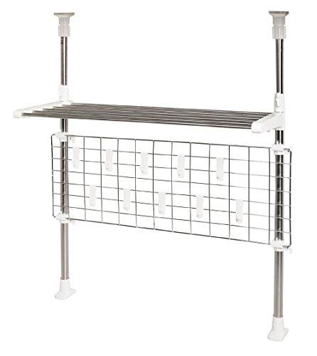 パール金属 キッチンツールスタンド ホワイト 幅67×奥行26×高さ71-121cm HB-3742