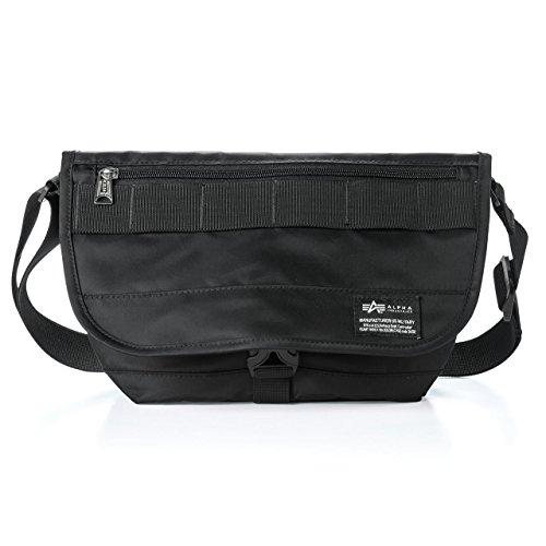 サンワダイレクト カメラバッグ メッセンジャーバッグ 普段使いにも  小物ポケット付  ALPHA INDUSTRIES  ブラック 200-DGB
