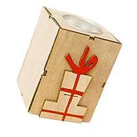 B Baosity クリスマス ティーライトホルダー キャンドルホルダー 木製 燭台 家装飾 全4種 - ギフトバッグ