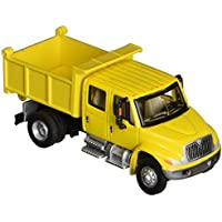 Walthers SceneMaster International 4300 Crew Cab Dump Truck, Yellow by Walthers SceneMaster