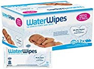 WaterWipes Unscented Baby Wipes, Sensitive and Newborn Skin, Mega Value, 12 Packs x 60 wipes (720 Wipes total)
