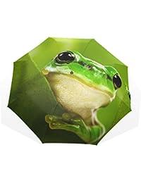 AOMOKI 折り畳み傘 折りたたみ傘 手開き 日傘 三つ折り 梅雨対策 晴雨兼用 UVカット 耐強風 8本骨 男女兼用 カエル 可愛い