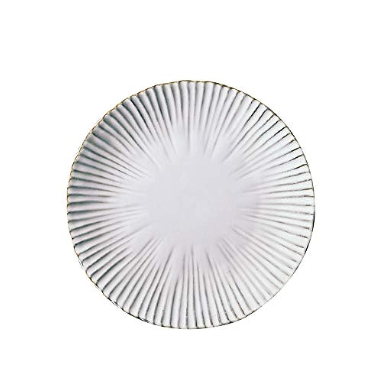 クリエイティブプレート、白丸セラミック食器、ホームウエスタンプレート、2サイズ (サイズ さいず : NO.1)