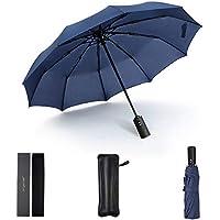 Jangannsa自動開閉 折り畳み傘 男女兼用 耐強風 超撥水 晴雨兼用 傘カバー付き 軽量 携帯便利 通勤 通学 旅行用自動開閉式傘