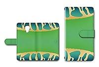 GALAXY S4 SC-04E対応 手帳型ケース カメラ穴搭載 ダイアリー スマホカバー レザー製 カエル模様 【デザインD】 ギャラクシー