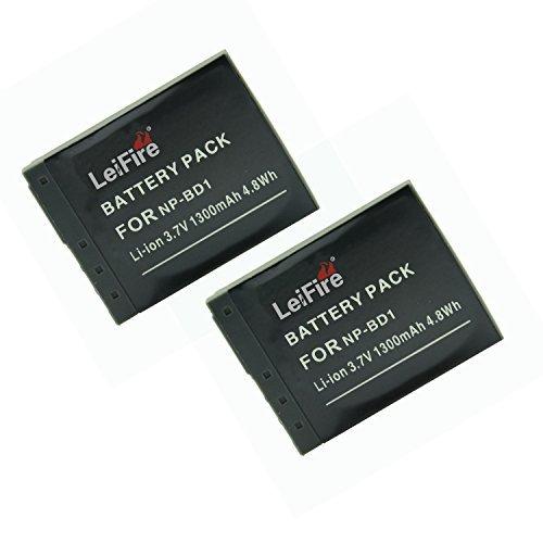 LeiFire® アクセサリ NP-BD1 NP-FD1 互換 カメラ バッテリー 2個 対応機種 ...