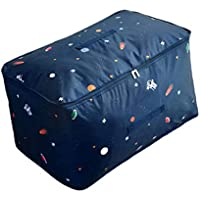 衣類キルト大型収納袋宇宙星形パターン防水性耐湿性ポータブル折り畳み式オックスフォード布高品質旅行オーガナイザー羽毛布団キルト衣類移動仕上げ荷物預かり袋 (サイズ さいず : 60 * 40 * 30cm)