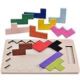 PStylish 子供キッズビルディングブロック玩具木製耐久性スクエア組み立て早期教育