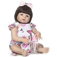 oumeinuo 22インチ55 cm Realistic Looking Lifelike Reborn人形Girlsフルボディシリコン新生児赤ちゃん人形幼児用Toy for Kid Girl人形