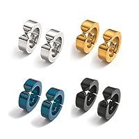 穴必要なし、選べるカラー4色、付け方簡単、サージカルステンレスイヤリング片耳1個 (シルバー片耳)