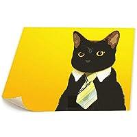 猫 ネコ キティ 背景絵画 風景画 壁キャンバス絵画 美術室 お祝いやプレゼントに 芸術の絵画 軽くて取り付けやすい (58x48cm)