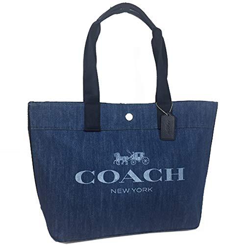 COACH(コーチ)『ロゴ キャンバス デニムトート』