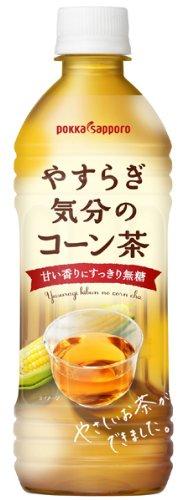 ポッカサッポロ やすらぎ気分のコーン茶 ペット 500ml×24本