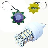 HQRP調光可能g9ベース36LEDコーンライトSMD LED電球ウォームホワイトスポットライトランプ電球110V 120VプラスHQRP UVメーター