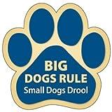 【アニマルズインク】 足跡型マグネット『大型犬、最高』Big Dogs Rule